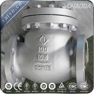JIS Standard Cast Steel Swing Check Valve pictures & photos