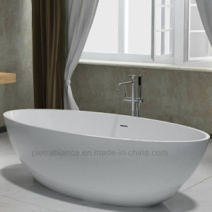 Wholesale Artificial Stone Corian Solid Surface Freestanding Bathtub (PB1057G)