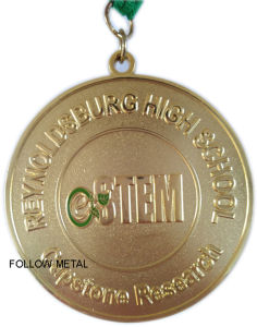 Challenge Medal for High School, Capstone Research, Gold Plated, Sandblasttag
