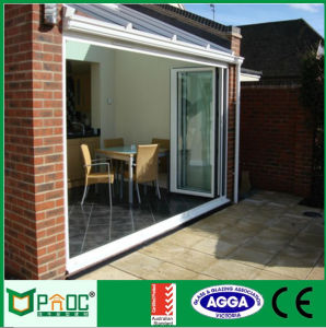 Aluminum Frame Bi Folding Door with Glazing Pnoc0014bfd pictures & photos