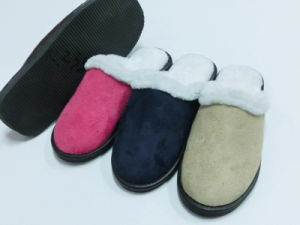 Wonmen Warm Indoor Comfort Nice Soft Slipper Shoes for Winter pictures & photos