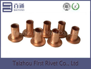 5X8mm Copper Plated Flat Head Full Tubular Steel Rivet