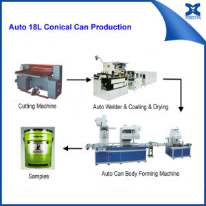Automatic Paint Can packaging Machinery Line for 20L Round Can Making Machine pictures & photos