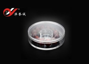 Clear Round Shape Plastic Bracelet Box with Cover pictures & photos