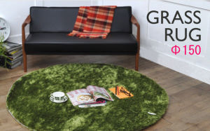 Bright Green Grass Rug/Tufted Mat /Carpet (150cm Diameter) , Oeko - Tex Standard 100 Certificated pictures & photos