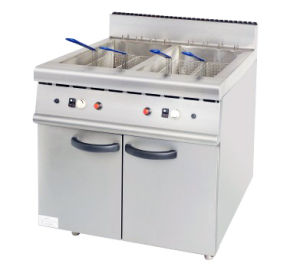 2-Tank Gas Fryer With Cabinet
