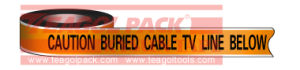 Detectable Warning Cable TV Line Tape pictures & photos