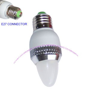 2W White LED Bulb Light With E27 Bass (8012)