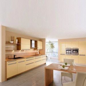 Laminated Kitchen Cabinet with PVC Coating (EM037)