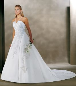 Elegant Halter Wedding Dress and Wedding Gown (BONNY023)