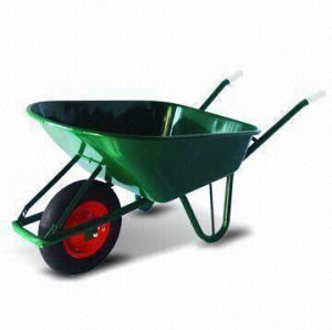 Wheelbarrow with Easy-to-Assemble Metal Tray