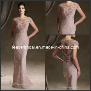 Lace Formal Dress Round Neck Mother Bride Evening Dress M1268 pictures & photos