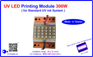 UV LED Printing Module/Lamp -306W for Standard UV Ink System, to Replace Mercury UV Lamps.