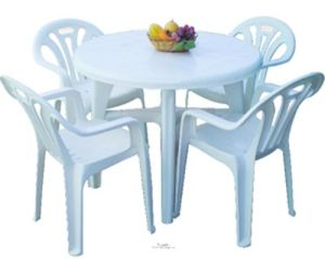 China Plastic Chair And Table Set Ourdoor