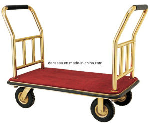 Luxur Hotel Brass Luggage Hand Trolley (DF76) pictures & photos