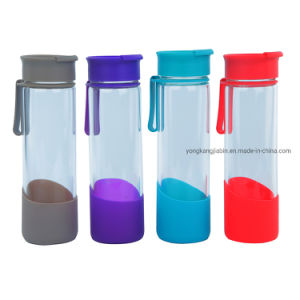 china 550ml glass drinking water bottle with silicone band flip top lid china glass water bottle and glass bottle price yongkang jiabin industry trade co ltd
