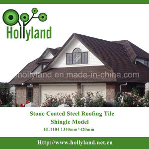 Corrugated Sheet Stone Chips Coated Metal Roofing Tile- Shingle Type pictures & photos