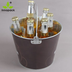 5qt Printed Custom Metal Beer Ice Bucket with Opener and Handle pictures & photos