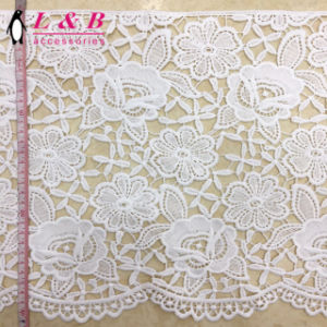 Embroidered Wide Floral Lace Trim pictures & photos