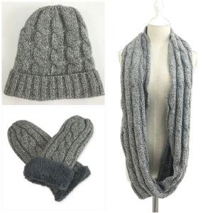 b0cb3a57c65 China Mens Womens Unisex 3PC Winter Warm Beanie Long Gloves Flip ...