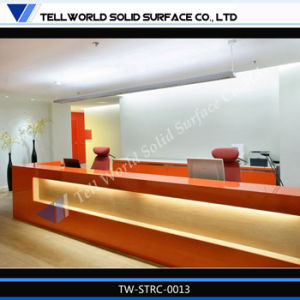 Tw Corian Acrylic Long Hall/Hotel/Office Reception Desk pictures & photos