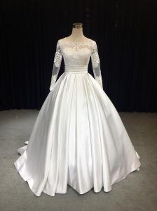 b8ad1214bf90 China Aoliweiya 2019 Trendy Satin & Lace A Line Wedding Dresses ...