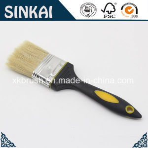 Rubber Plastic Paint Brush with Hog Bristle pictures & photos