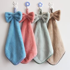 China Lovely Design Hanging Absorbent Microfiber Kitchen Hand Towel
