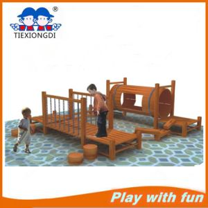 Small Outdoor Wooden Playground for Children′s Playground pictures & photos