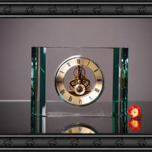 Elegant Crystal Glass Table Clock for Decoration pictures & photos