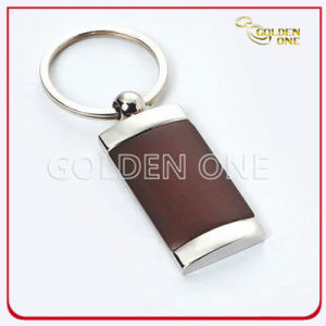 Promotion Gift Good Quality Wooden Keyring with Metal pictures & photos