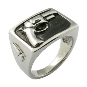 Jewelry Manufacturer Hip Hop Gun Custom Stainless Steel Rings pictures & photos