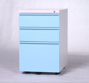 New 3 Drawer Mobile Pedestal Lockable Filing Cabinet