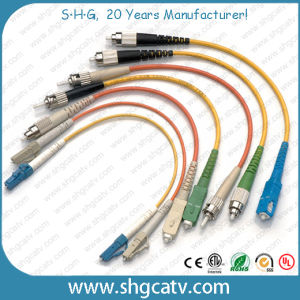 LC-FC Sm Duplex Armored Fiber Optic Patch Cord pictures & photos
