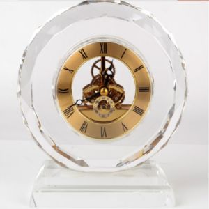 Promotional Crystal Table Clock Crystal Gift for Business Souvenirs Gifts pictures & photos