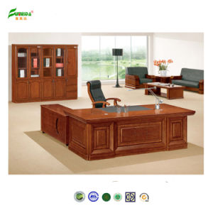 MDF Luxury High End Office Table with PU Cover pictures & photos
