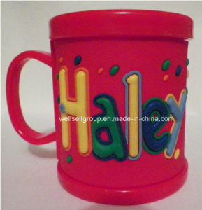 Red Personalized Children′s Name Mug with Soft PVC (CPBZ-4011)