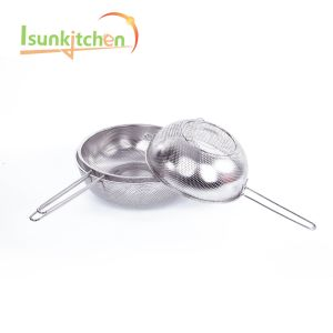 25.5kitchen Tools Stainless Steel Strainer with Handle Rice Colander