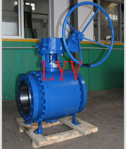 Worm Gear Flanged Stainless Steel Ball Valve