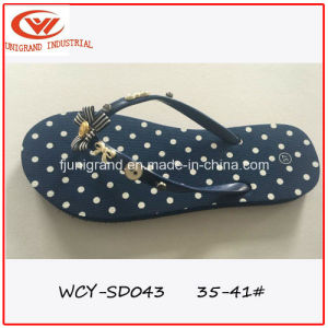Ladies Non-Slip Slipper Sexy Women Sandals with TPR Sole pictures & photos