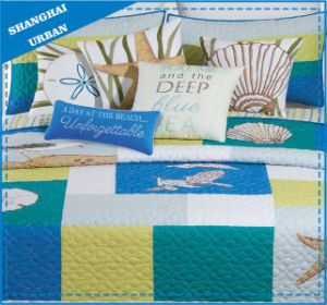 Sea Impression Printed Polyester Patchwork Quilt pictures & photos