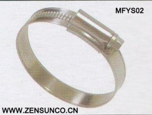 English Type High Quality Worm Drive Hose Clamp9.7mm 11.7mm Mfys02 pictures & photos