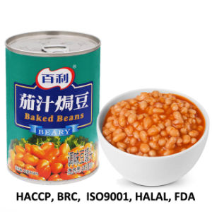China 415g Canned Baked Beans In Ketchup Wholesale Oem Chinese Soy Beans Canned Yellow Beans