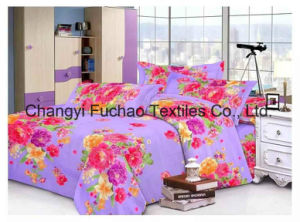 Poly/Cotton Fabric Modern Bedspread Bedding Set Bed Cover Sheet pictures & photos