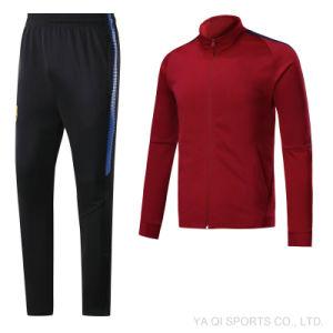 China New 17 18 La Liga Red Football Jacket Soccer Club Coat For