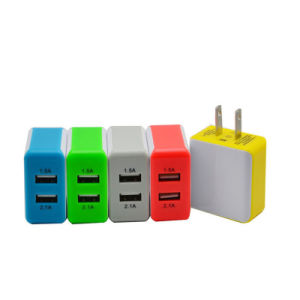Mobile Phone Charger 2 USB Port Micro USB Wall Charger for Samsung Huawei pictures & photos