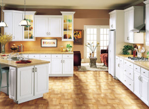 Home Furniture Classic Style American Standard Solid Wood Kitchen Cabinets  Newest Kitchen Model
