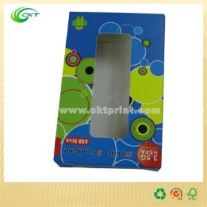 Custom USB Stick Packaging with Window (CKT-CB-422)