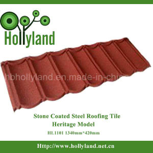 Corrugated Color Stone Coated Steel Roofing Tile Sheet (Classical Type) pictures & photos