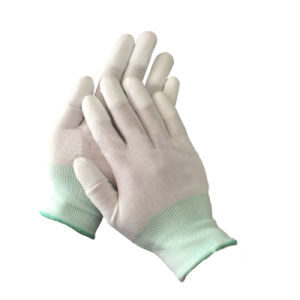 PU Finger/Plam Coated Safety Work Glove pictures & photos